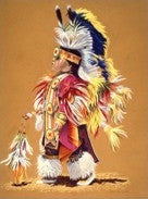 Embellished Canvas Print - Native Child