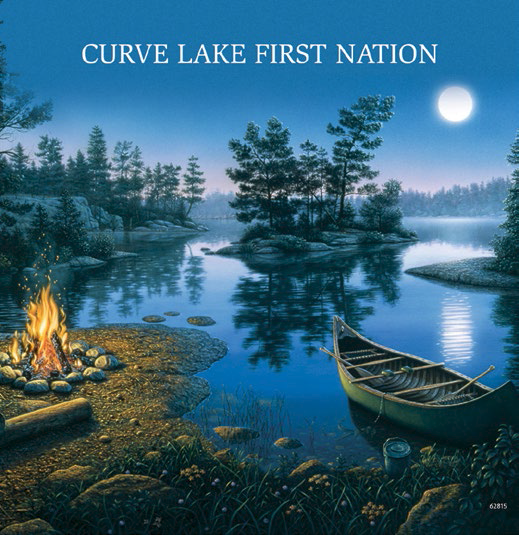 Curve Lake First Nation Magnet - Canoe Camp