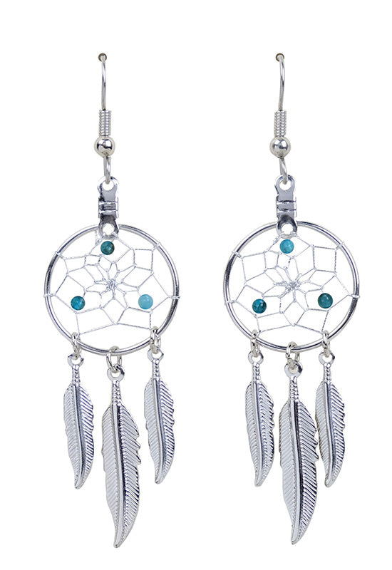 Birthstone Dream Catcher Earrings
