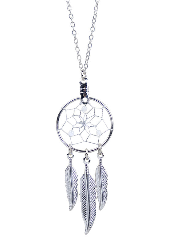 Birthstone Dream Catcher Necklace