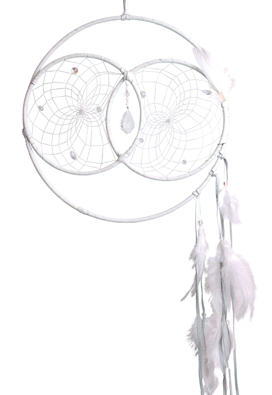 "12"" Large Soul Connection: Wedding Dream Catcher (White)"