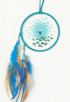 "Energy Flow Dream Catcher 4"" - Turquoise"