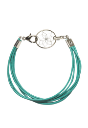 ".75"" Dream Catcher Leather Bracelet"
