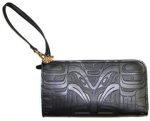 Embossed Fashion Clutch - Raven (Black Pearl)