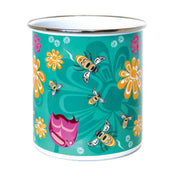 Enamel Plant Pot - Bee and Blossoms