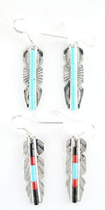 Feather Heishi Earrings