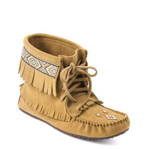 Harvester Suede Moccasin with Trim (Oak)