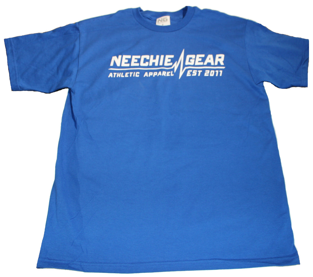 Mens Neechie Gear T-Shirt - Heartbeat (Royal Blue)