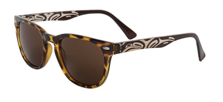 Unisex Kennedy Eagle Sunglasses (Demi Brown)