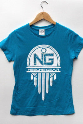 Womens Neechie Gear T-Shirt - Traditional (Turquoise)