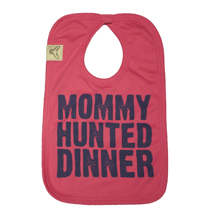 Mommy Hunted Dinner Baby Bib (Pink)
