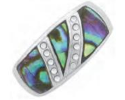Ladies Stainless Steel Paua Shell Ring