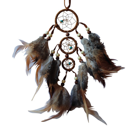 Brown Dream Catcher (3 ring) 9