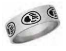 Unisex Stainless Steel Paw Ring