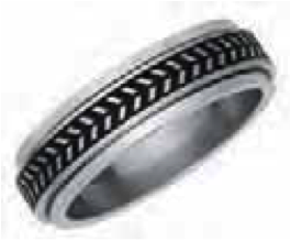 Unisex Stainless Steel Spinner Ring