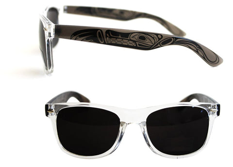 Adult Sunglasses - Wolf (Clear Frames)