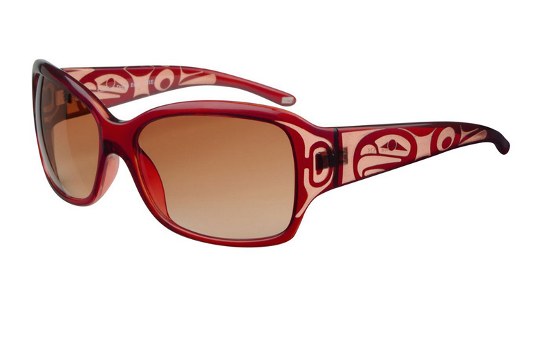 Althea Eagle Sunglasses - Crystal Red