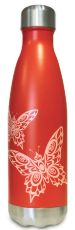 Insulated Bottle (17 oz) - Butterflies