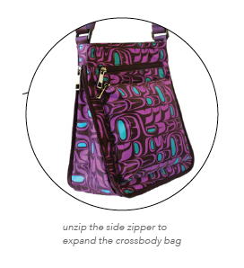 Crossbody Bag - Pacific Formline (Purple)