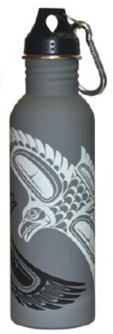Matte Water Bottle - Raven