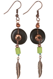 Earrings - River Rock with Ceramic Beads
