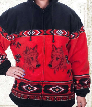 Red Wolves & Axes Jacket