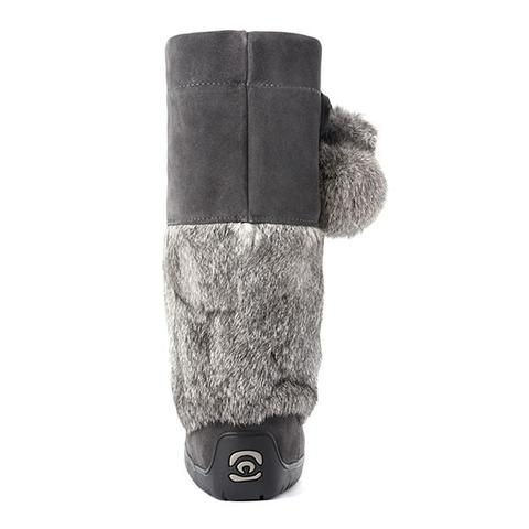 Snowy Owl Waterproof Suede Mukluk (Charcoal)