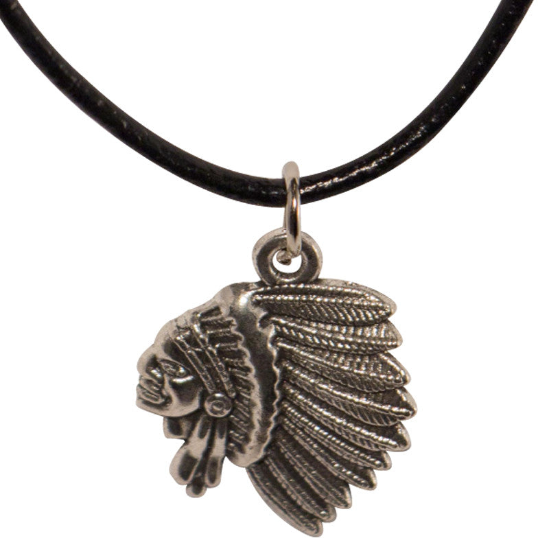 Cord Necklace - Indigenous Chief Head