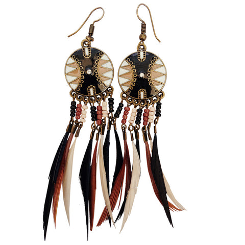 Earrings South/W Feathers 2 Asst. Colors
