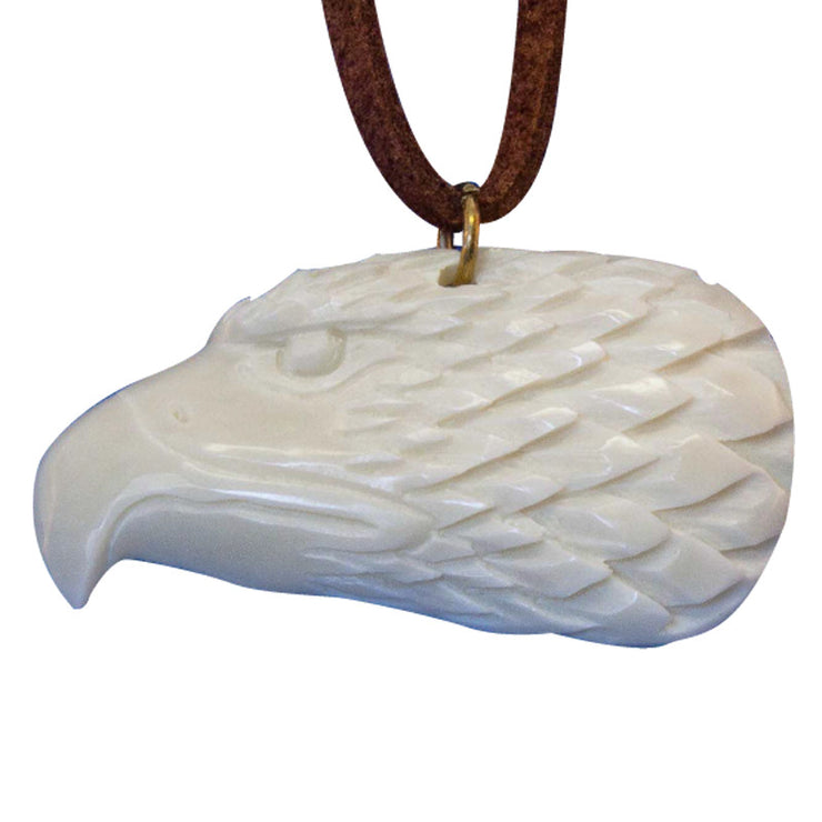 Carved Bone Necklace - Eagle
