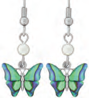 Paua Shell Earrings - Butterfly