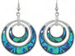 Paua Shell Earrings - Circle