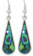 Paua Shell Earrings - Teardrop