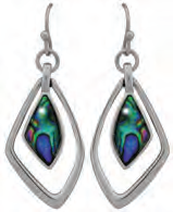 Paua Shell Earrings - Freeform Floating