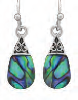 Paua Shell Earrings - Fancy Teardrop