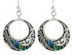 Paua Shell Earrings - Fancy Circle