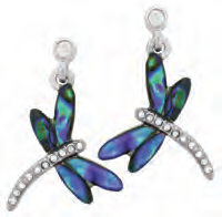 Paua Shell Earrings - Dragonfly