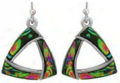 Paua Shell Earrings - Triangle