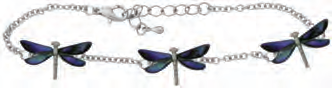 Paua Shell Anklet - Dragonfly
