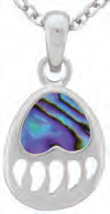 Paua Shell Necklace - Bear Paw