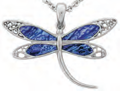 Paua Shell Necklace - Dragonfly