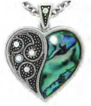 *DISCONTINUED* Paua Shell Necklace - Split Heart