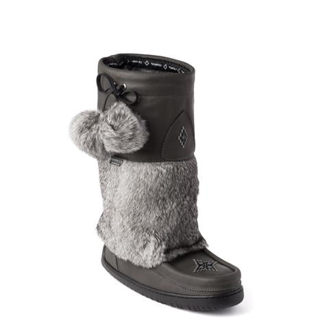 Snowy Owl Waterproof Grain Mukluk (Pewter)