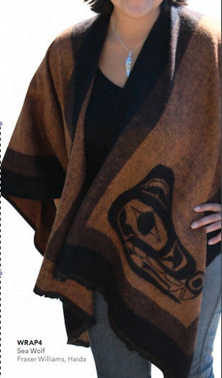 Fashion Wrap - Sea Wolf by Fraser Williams (Brown)