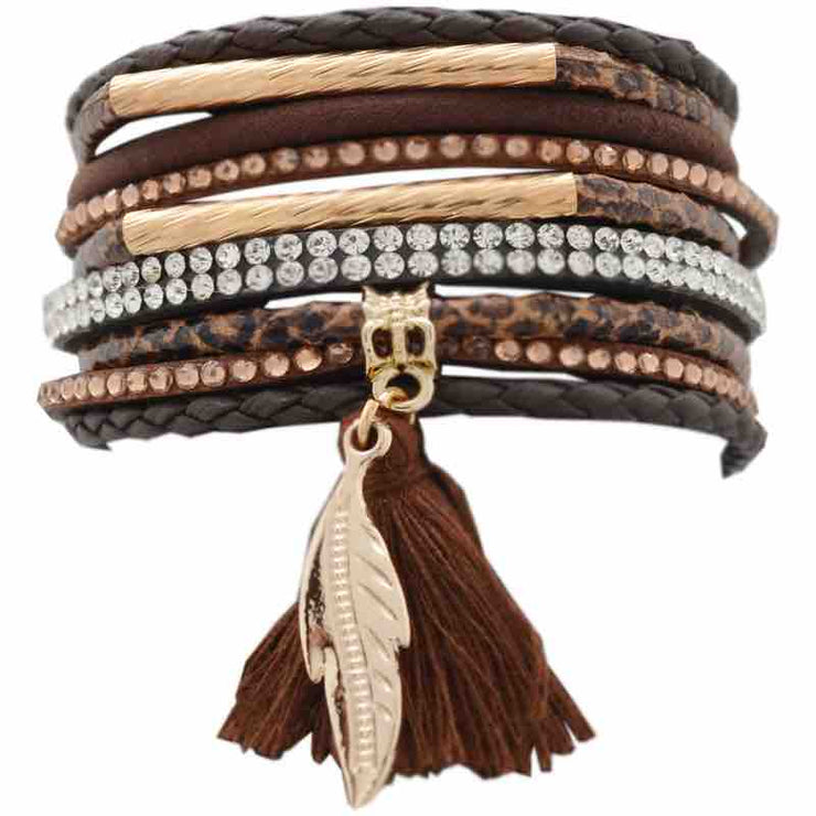 Wrap Feather Tassel Bracelet