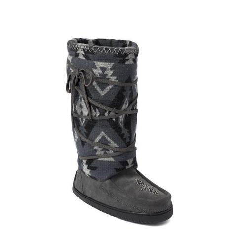 *Discontinued* Wool Lace Up Mukluk (Charcoal)