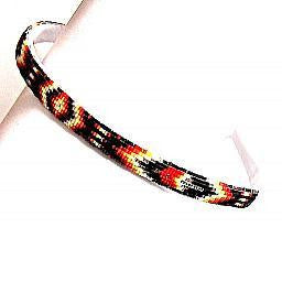 Beaded Headband (Feather Design)