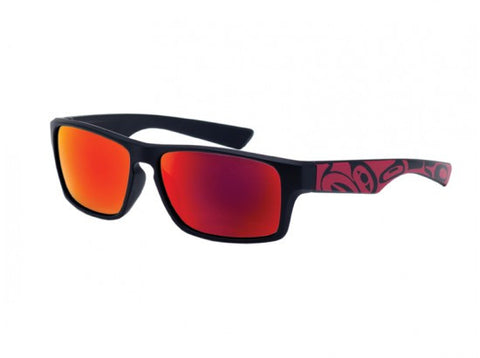 Brent Men's Sunglasses Eagle (Black/Red)