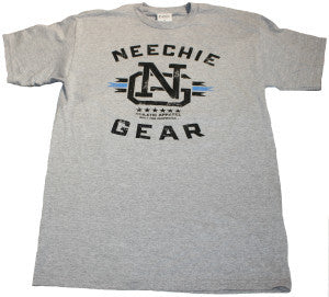 Mens Neechie Gear T-Shirt - Built (Athletic Grey)
