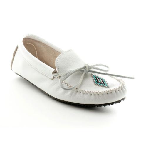 Canoe Grain Moccasin (White)